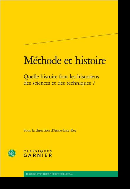 Méthode et histoire. Quelle histoire font les historiens des sciences et des techniques ? - Index des œuvres