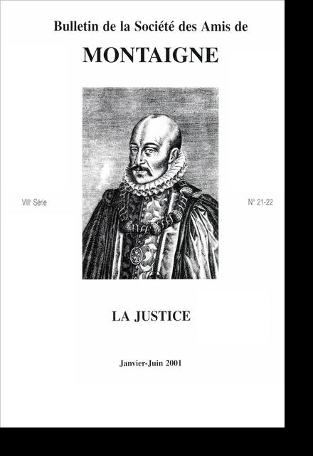 Bulletin de la Société des amis de Montaigne. VIII, 2001-1, n° 21-24. varia