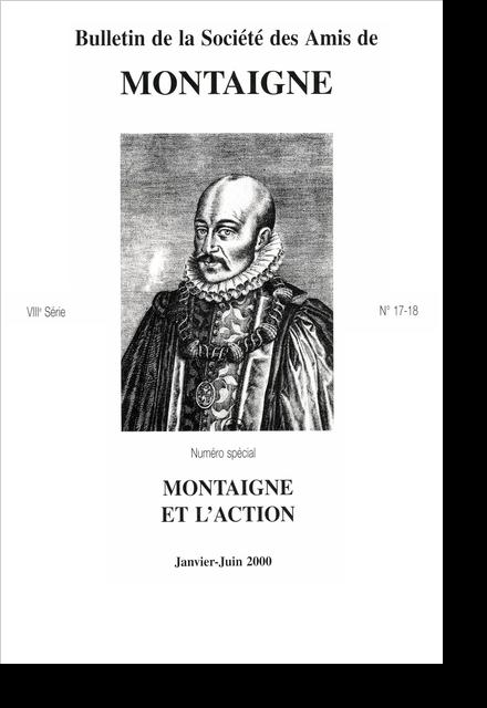 Bulletin de la Société des amis de Montaigne. VIII, 2000-1, n° 17-18.. varia