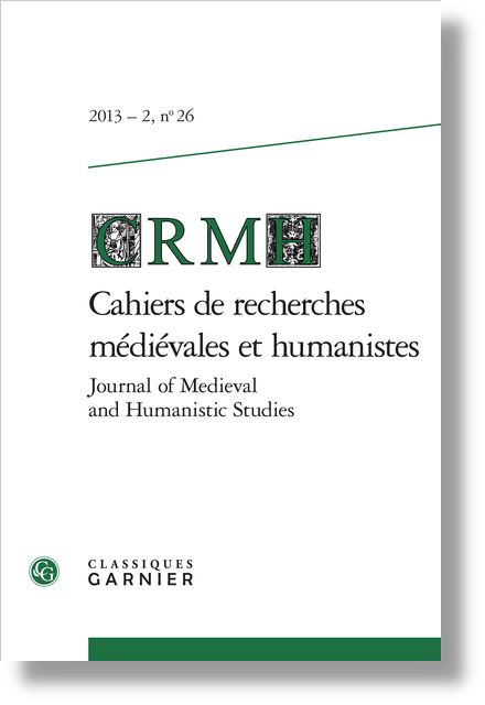 Cahiers de recherches médiévales et humanistes / Journal of Medieval and Humanistic Studies. 2013 – 2, n° 26. varia - L'organum, un art de cathédrale ?