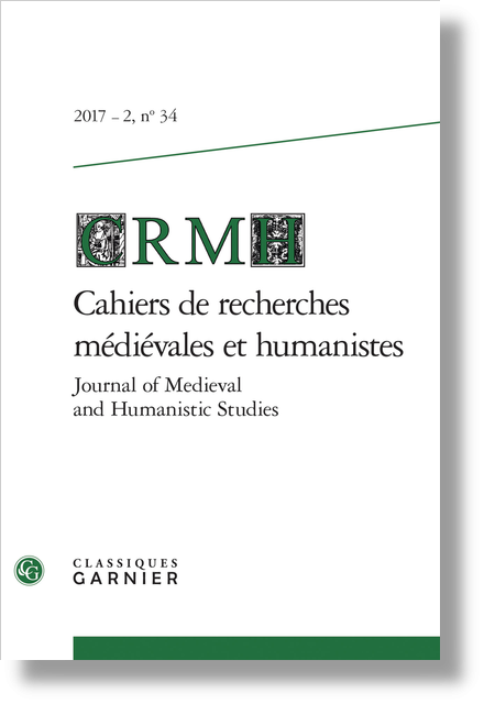 Cahiers de recherches médiévales et humanistes / Journal of Medieval and Humanistic Studies. 2017 – 2, n° 34. varia - L'optimisme du satiriste