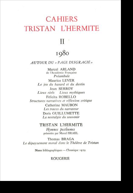 Cahiers Tristan L'Hermite. 1980, II. varia - Liste des membres de l'association
