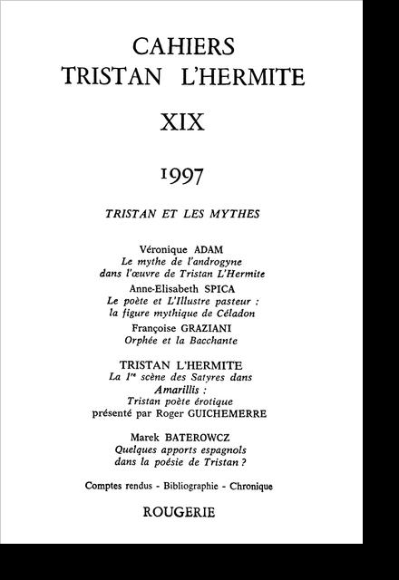 Cahiers Tristan L'Hermite. 1997, n° 19. varia