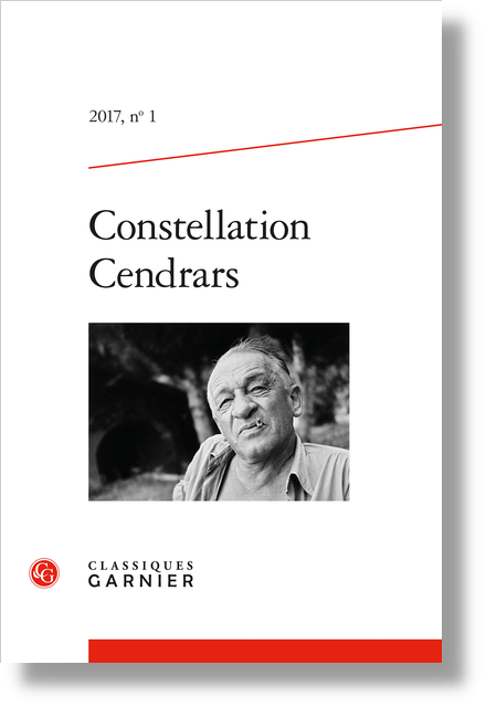 Constellation Cendrars. 2017, n° 1. varia