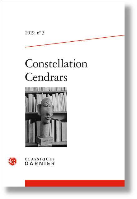 Constellation Cendrars. 2019, n° 3. varia