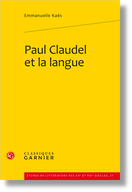Paul Claudel et la langue