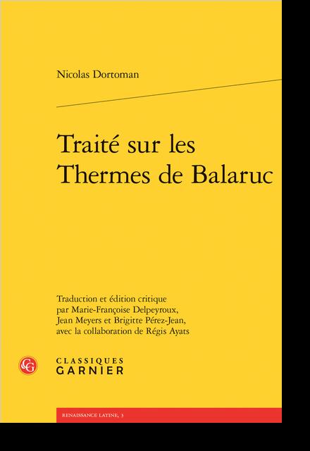 Traité sur les Thermes de Balaruc
