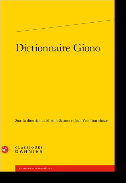 Dictionnaire Giono