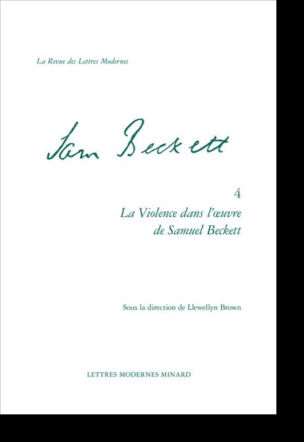 La Violence dans l'œuvre de Samuel Beckett. Entre langage et corps