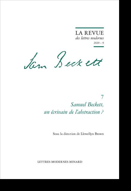 Samuel Beckett, un écrivain de l'abstraction ?. 2020 – 9