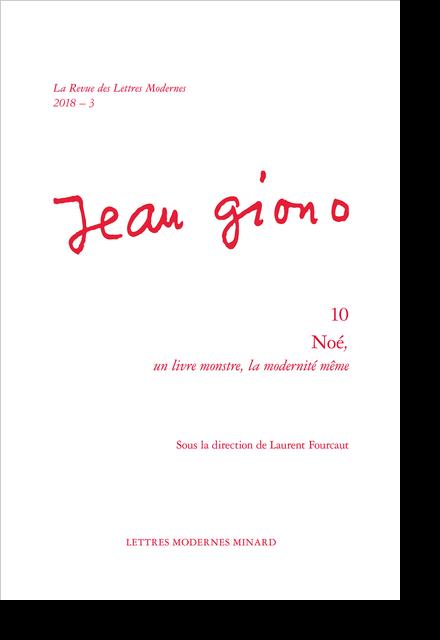 Noé,. 2018 – 3 un livre monstre, la modernité même - Index des noms
