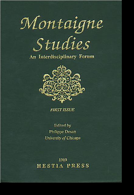 Montaigne Studies. 1989 An Interdisciplinary Forum, n° 1. varia