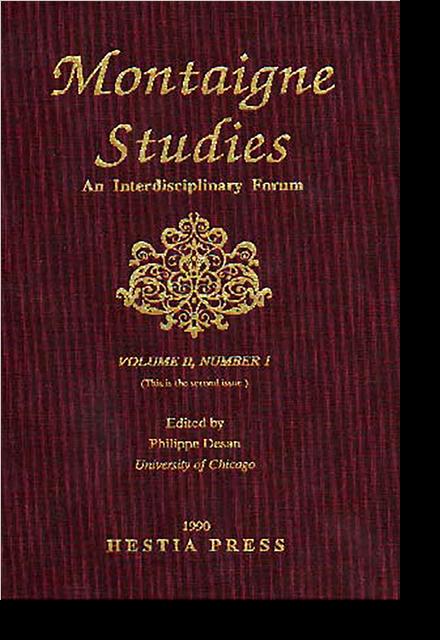 Montaigne Studies. 1990 An Interdisciplinary Forum, n° 2. varia - Contents