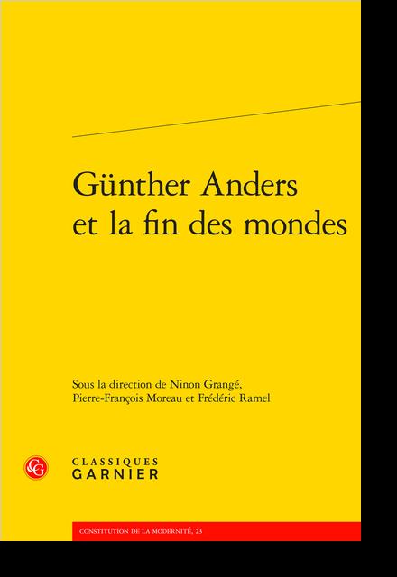 Günther Anders et la fin des mondes