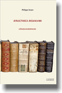 Bibliotheca Desaniana. Catalogue Montaigne