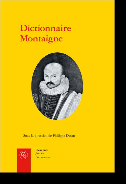 Dictionnaire Montaigne - [Lettre] X