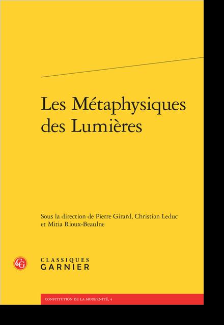 Les Métaphysiques des Lumières - Les Lettres IV et V à Serena de John Toland