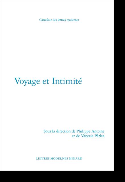 Voyage et Intimité - Table des matières
