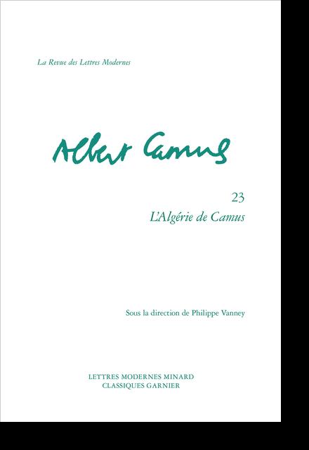 L'Algérie de Camus
