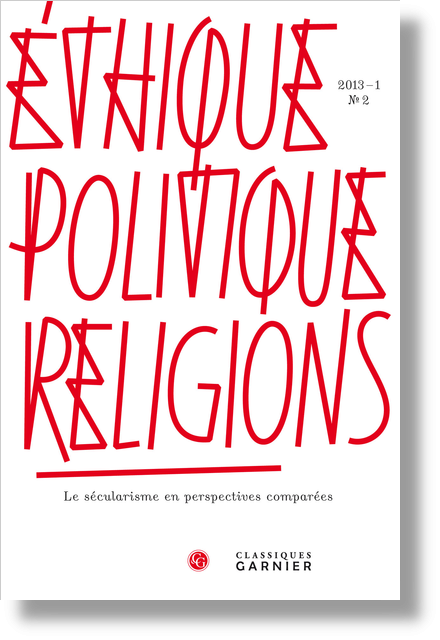 Éthique, politique, religions. 2013 – 1, n° 2. Le sécularisme en perspectives comparées - The Unexpected Rise of Secularity in the United States 1990-2008