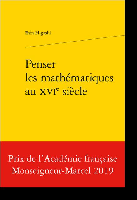 Penser les mathématiques au XVIe siècle - Index rerum