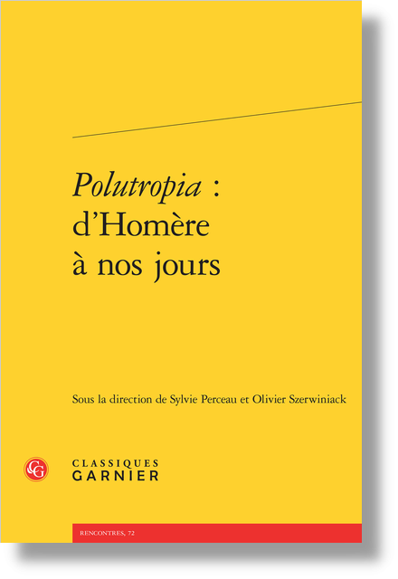 Polutropia : d'Homère à nos jours - Index des œuvres anonymes