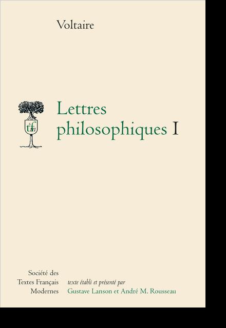 Lettres philosophiques I