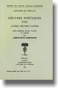 Œuvres poétiques - Tome VIII: Autres œuvres latines