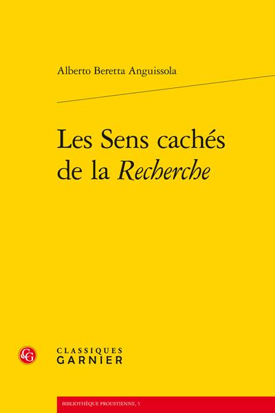 Les Sens cachés de la Recherche - Splendeurs et misères  d'Albert Bloch