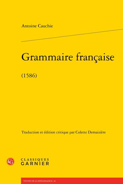Grammaire française. (1586)
