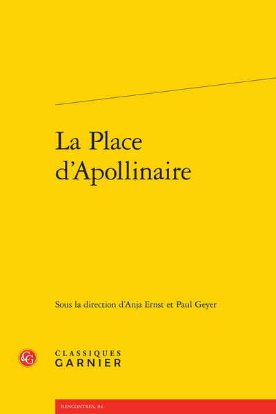 La Place d'Apollinaire - Introduction