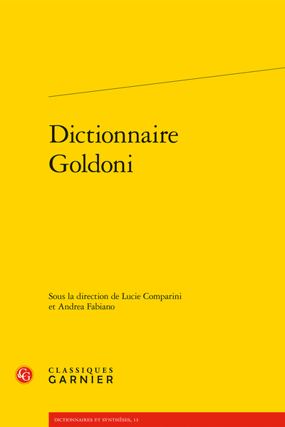 Dictionnaire Goldoni