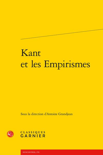 Kant et les Empirismes