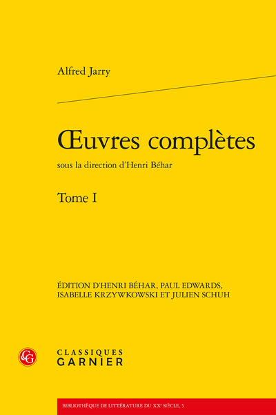Œuvres complètes. Tome I - Conventions et sigles