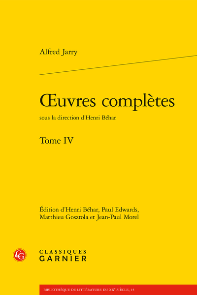 Œuvres complètes. Tome IV