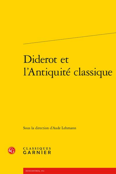Diderot et l'Antiquité classique