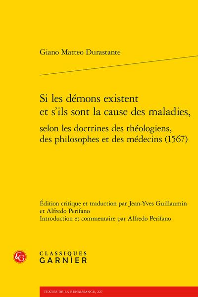 Si les démons existent et s'ils sont la cause des maladies, selon les doctrines des théologiens, des philosophes et des médecins (1567) - Table des matières