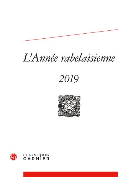 L'Année rabelaisienne. 2019, n° 3. varia