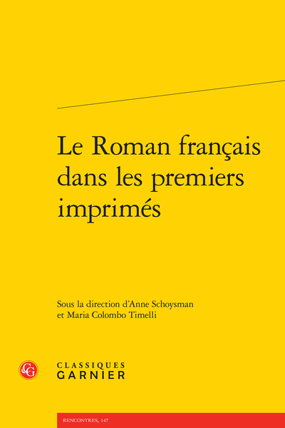 Le Roman français dans les premiers imprimés