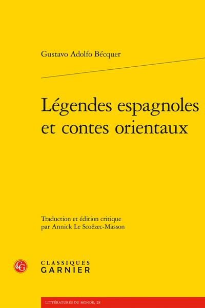 Légendes espagnoles et contes orientaux - Introduction