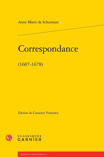 Correspondance. (1607-1678)