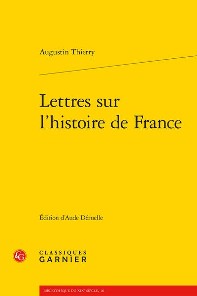 Lettres sur l'histoire de France - Avertissement
