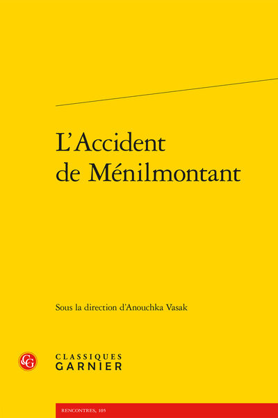 L'Accident de Ménilmontant - Résumés/Abstracts