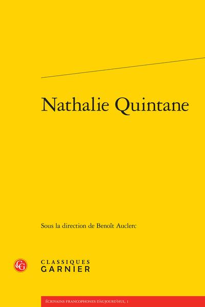 Nathalie Quintane - Loges du visible