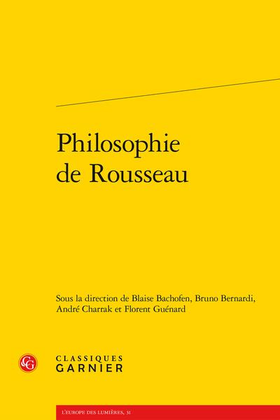 Philosophie de Rousseau
