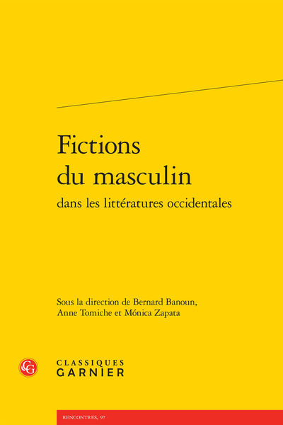 Fictions du masculin dans les littératures occidentales - « The Male Line »