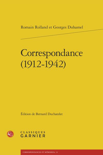 Correspondance (1912-1942)