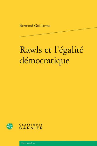 Rawls et l'égalité démocratique