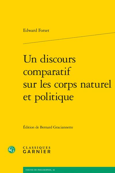 Un discours comparatif sur les corps naturel et politique