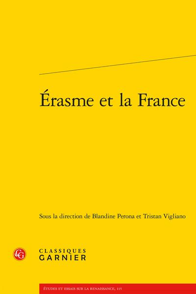 Érasme et la France